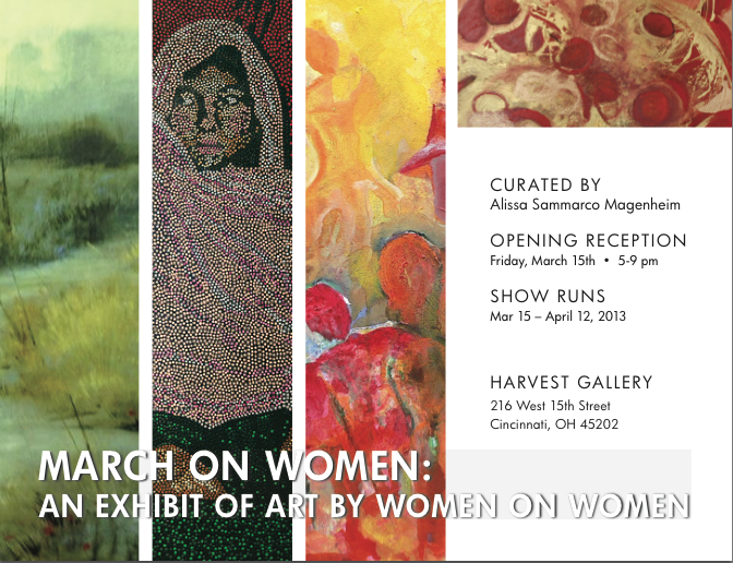 March on Women Exhibition Card